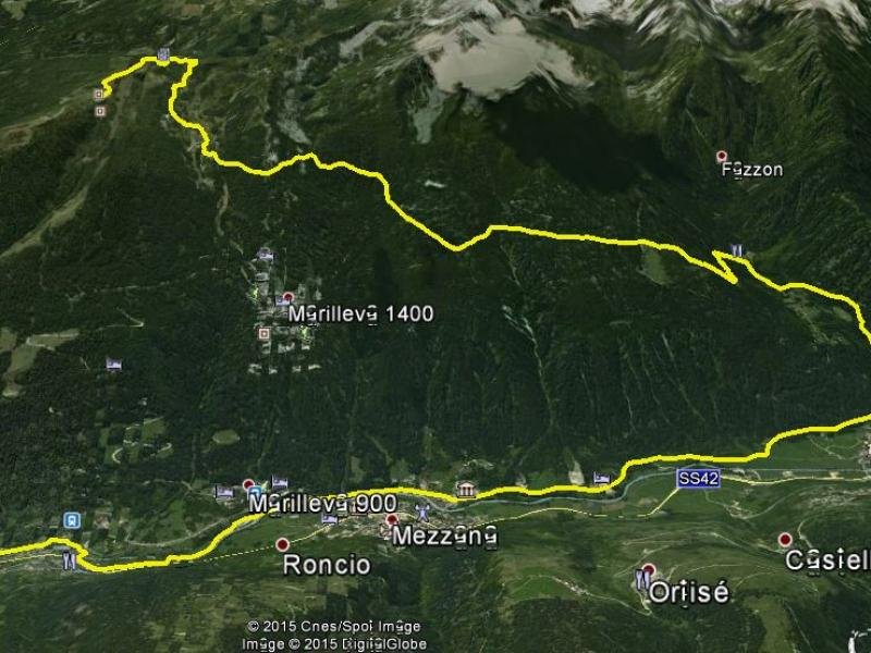 cartina lago dei caprioli hard