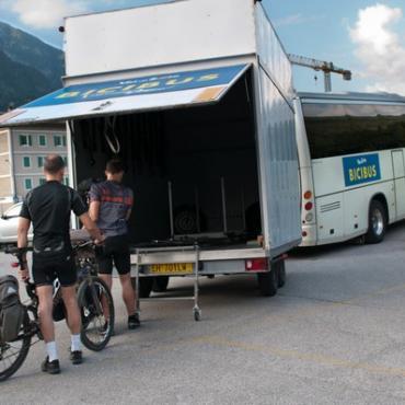 il bicibus per salire a Folgarida